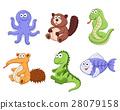 cartoon animals collection 28079158