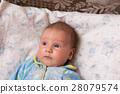 surprised baby looking away 28079574