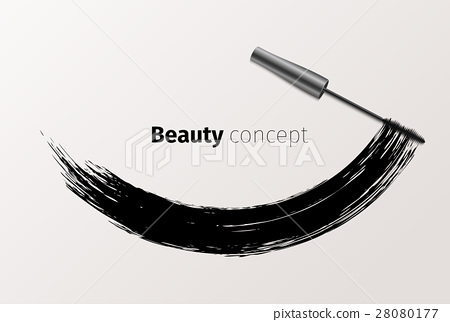 Mascara fashion banner, clear template for 28080177