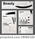 mascara, cosmetic, vector 28080180