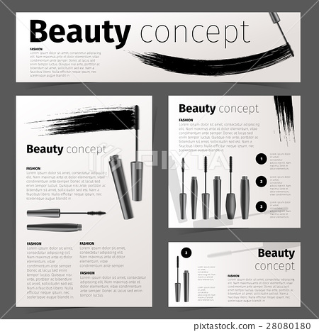 Mascara fashion cards, banners, flyer or brochure 28080180