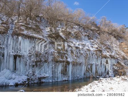 Shirakawa ice pillar group 28080982