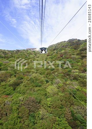 雲仙索道Myomi站 -  Neda Pass站之間的壯麗秋葉令人驚嘆的秋葉大型全景 28085143