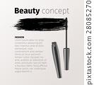 mascara, vector, cosmetic 28085270