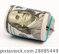Stack of money in US dollars cash banknotes 28085449