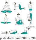 yoga, exercise, female 28085798
