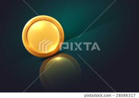 Vector illustration of gold coin 28086317