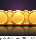 Vector illustration of gold coins 28086321