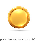 gold coin isolated on a white background 28086323