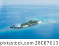 Tropical islands and atolls in Maldives 28087013