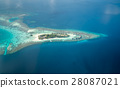Tropical islands and atolls in Maldives 28087021