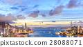 Hong Kong city skyline at night 28088071