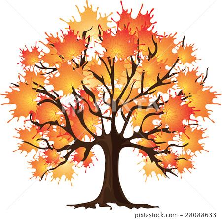 Art autumn tree. Maple 28088633