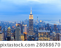 New York City with skyscrapers 28088670