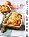 Gratin of potatoes, apples and  Camembert cheese 28090595
