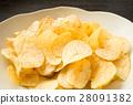 감자 칩 스낵 과자 간식 짠맛 28091382