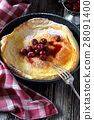 Lush omelette and cherry jam dressing 28091400