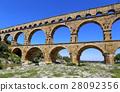 Roman aqueduct Pont du Gard 28092356