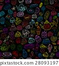 Cakes and sweets, seamless pattern for your design 28093197
