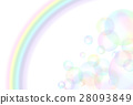 Soap bubbles and rainbow 28093849