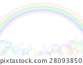 Soap bubbles and rainbow 28093850