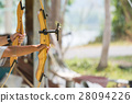 wooden bow aiming straight 28094226