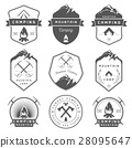 Set of Vector Badges Camping and Hiking 28095647