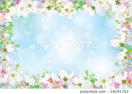 Vector spring floral background. 28095762