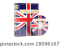 English book with flag of UK and CD disk 28096167