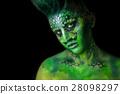 Reptilian Alien Girl 28098297