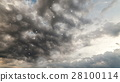 Dramatic storm sky background with snow. 28100114