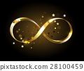 Golden infinity symbol 28100459