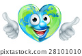 Earth Day Thumbs Up Heart Mascot Cartoon Character 28101010