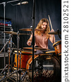 Playing the drums in the studio 28102521