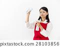 圍裙 女人 女性 28103856