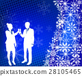 couple raising toast on the abstract background 28105465