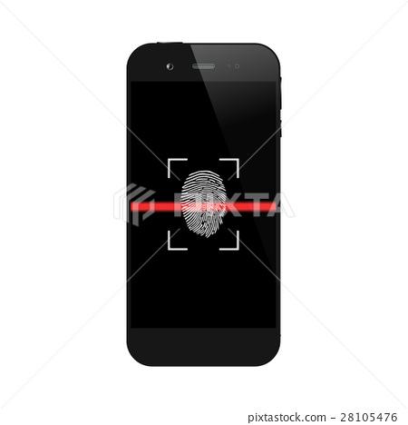 Smartphone with fingerprint scanning 28105476