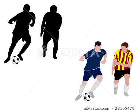 Soccer players silhouettes 28105479