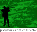 Hunter silhouette on the camouflage background 28105762