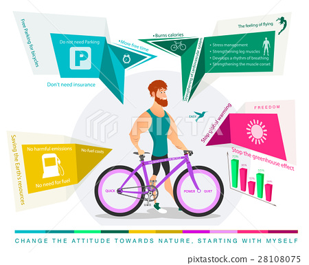 character of cyclist with Bicycle 28108075
