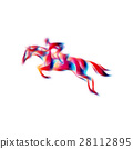 Horse race. Equestrian sport. Silhouette of racing 28112895
