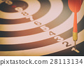 target dart with target arrows  and dartboard 28113134