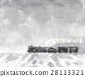 蒸汽机车在多雪的国家 28113321