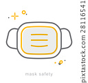 Thin line icons, Mask safety 28116541