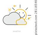 Thin line icons, Weather 28116546