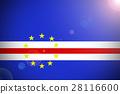 Cape verde national flag 3D illustration symbol 28116600