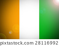 Cote d'ivoire flag 3D illustration symbol. ,Origin 28116992