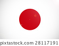 Japan national flag illustration symbol 28117191