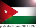 Jordan national flag illustration symbol. 28117192