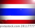 Thailand national flag 3D illustration symbol. 28117777